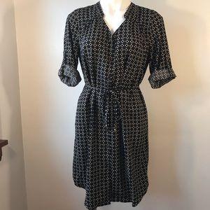 41 Hawthorn Stitch Fix Dress, Black/Tan Geometric